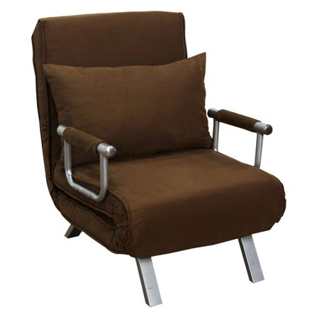 homcom single sleeper convertible sofa chair. Black Bedroom Furniture Sets. Home Design Ideas