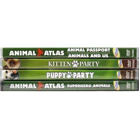 Animal Atlas Passport & Us Kitten & Puppy Party & Superhero Animals 5 DVD Set - Puppy Superhero