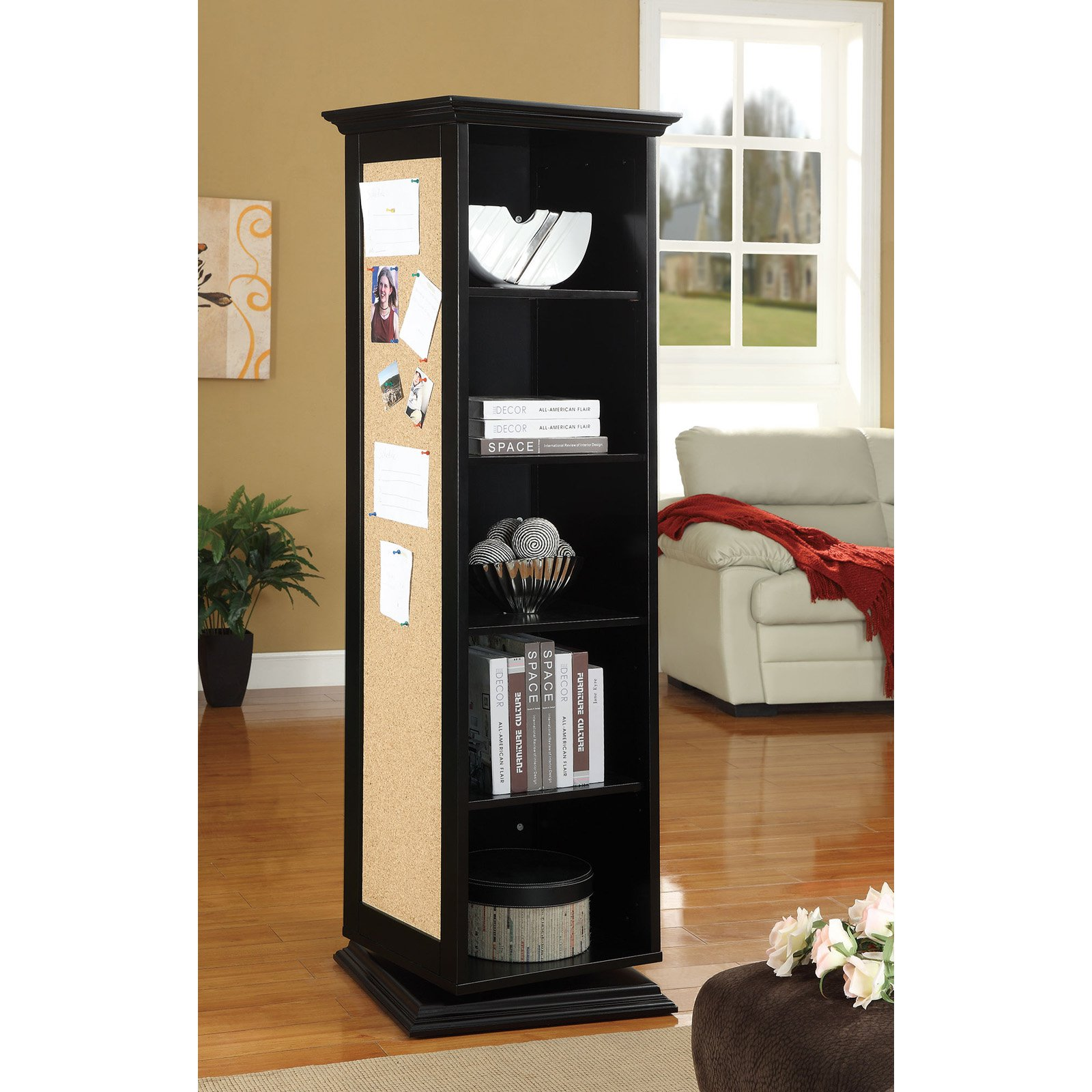Coaster Company Swivel Cabinet, Black