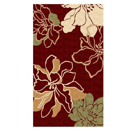 Linon Milan Collection Floor Coverings Rugs-Color:Red/Ivory,Size:5' x 7.7'