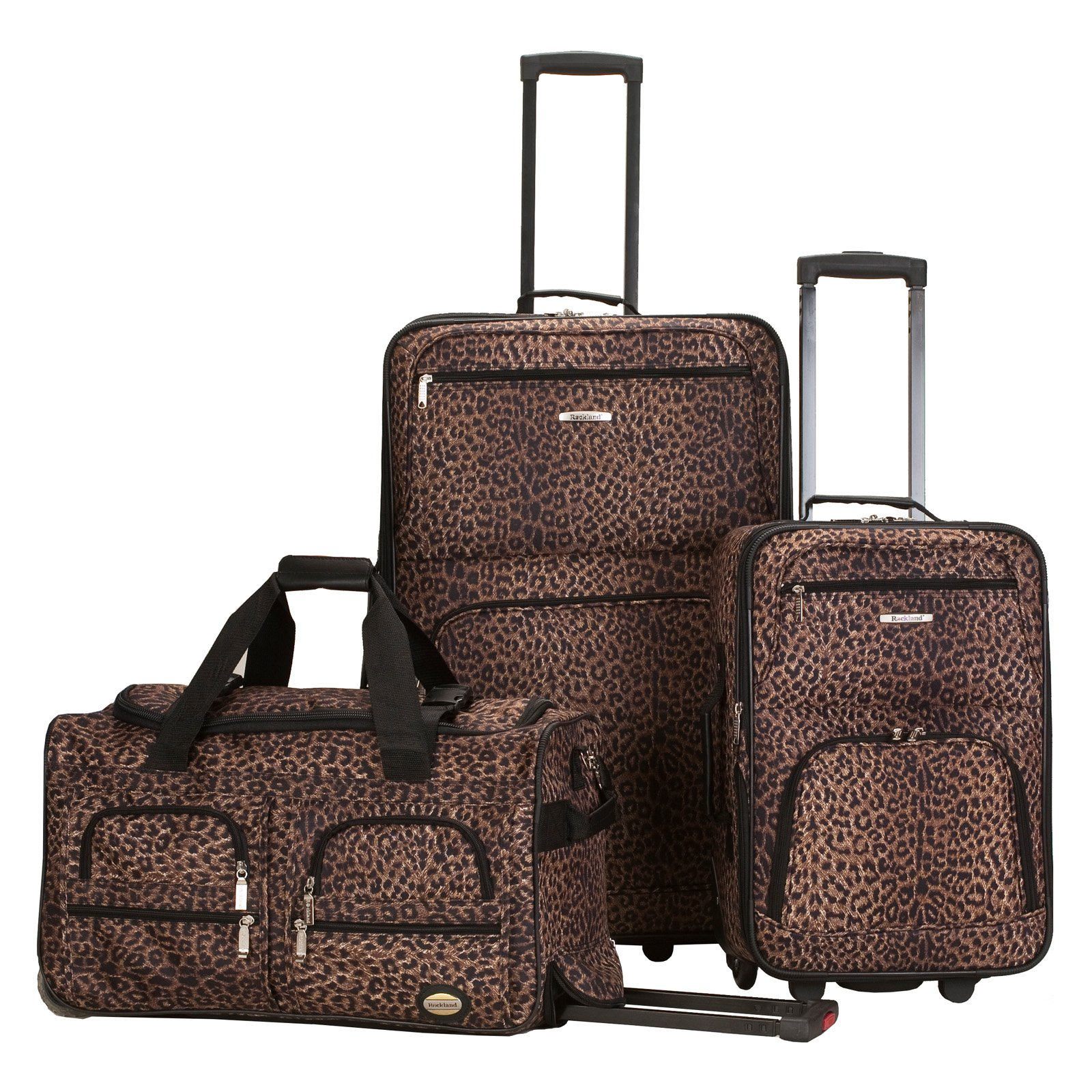 Rockland Luggage 3-Piece Animal Print Luggage Set