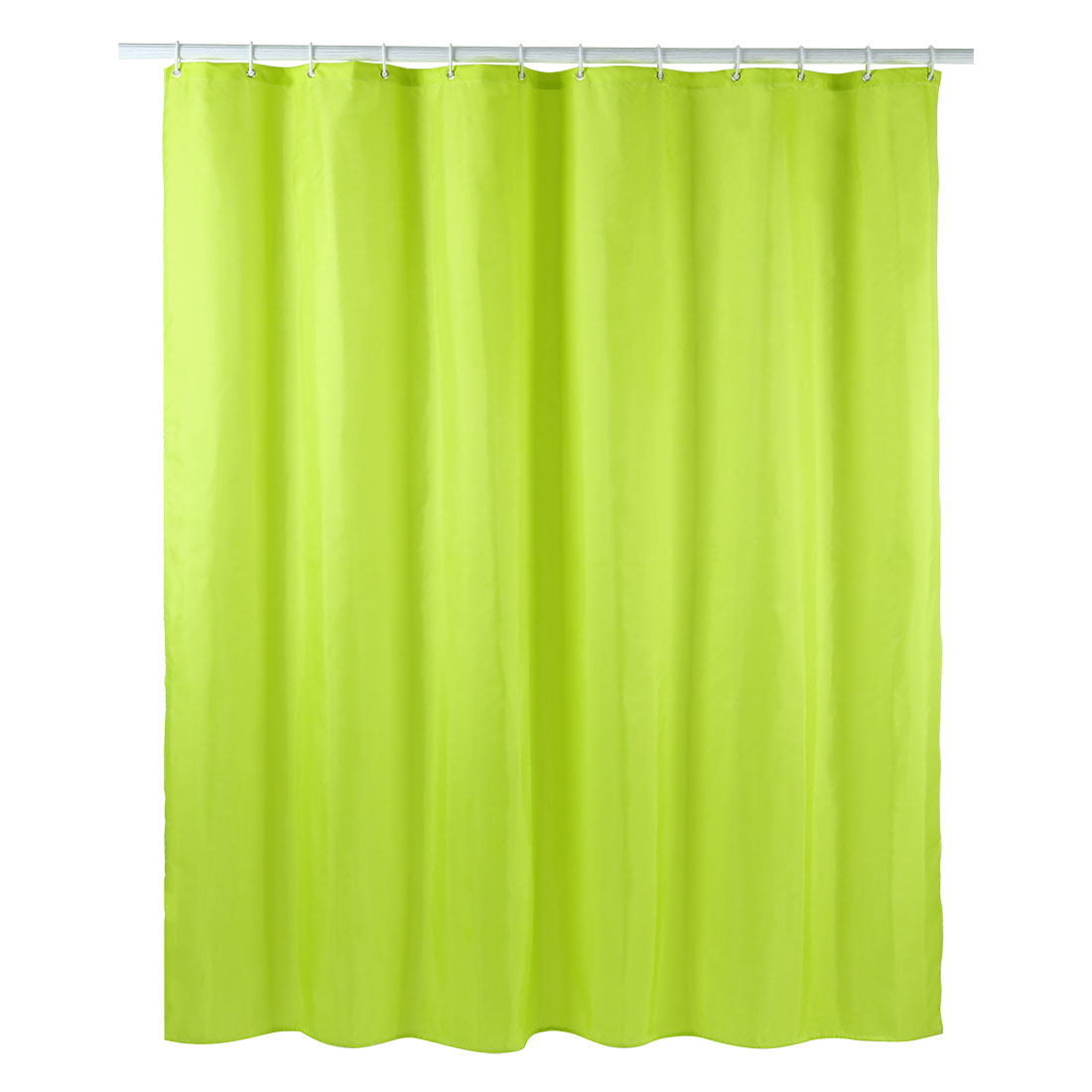 Solid Color Polyester Fabric Shower Curtain with Hooks Green 72 x 78 Inch - image 8 of 8