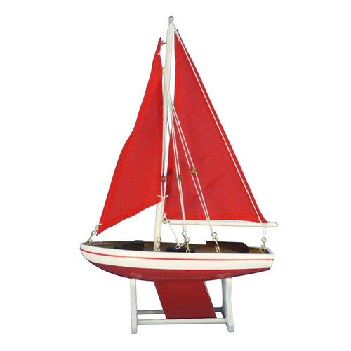 Handcrafted Nautical Decor Wooden It Floats Floating Model Sailboat