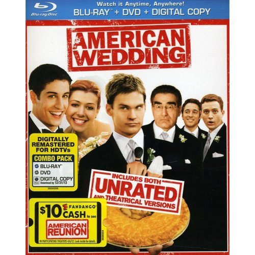 American Wedding (Rated/Unrated) (Blu-ray + DVD + Digital Copy) (With INSTAWATCH) (Widescreen)