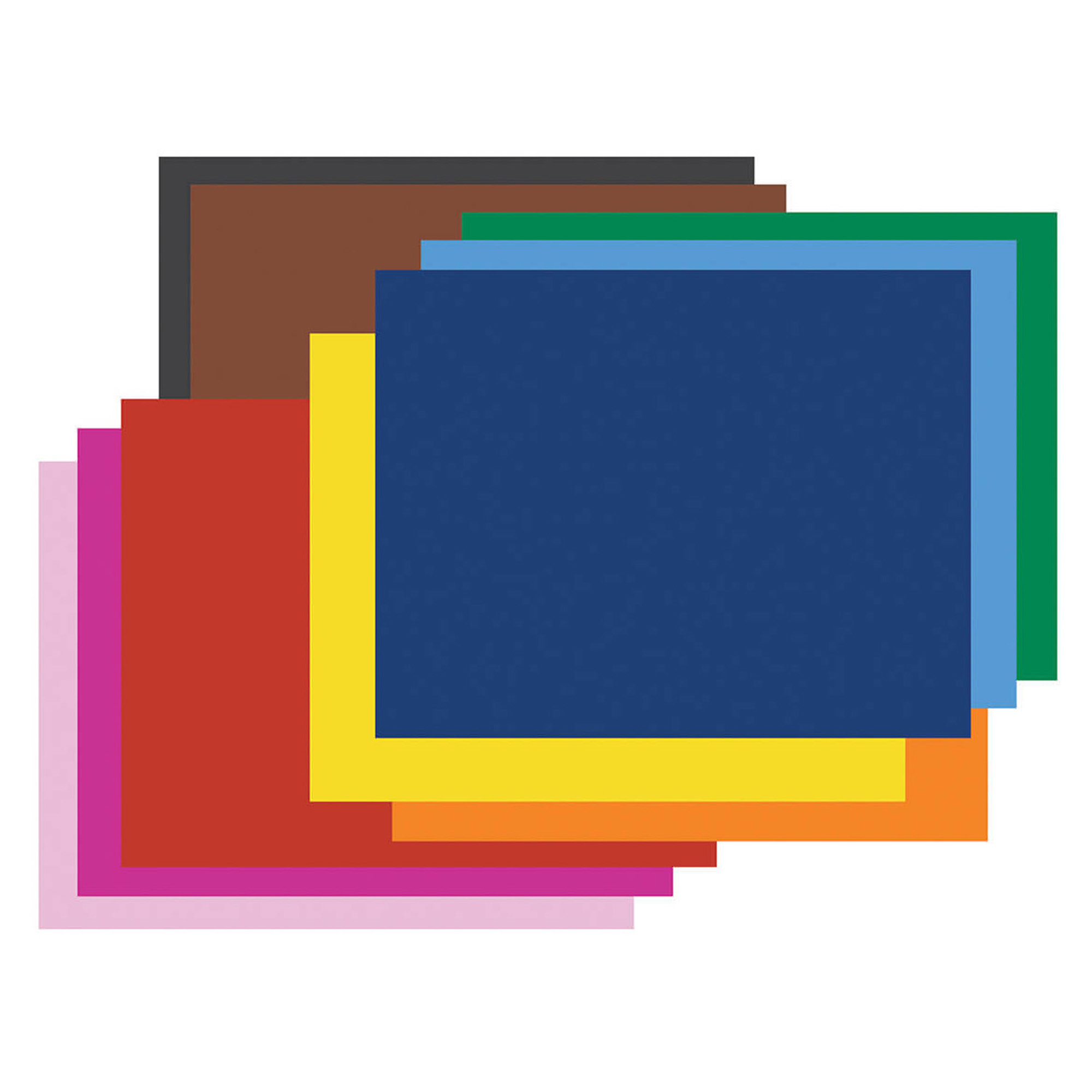 "Pacon® Railroad Board, 4-Ply, 22"" x 28"", 10 Color Assortment, Pack of 50"