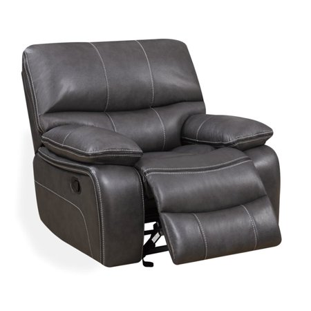Global Furniture U0040 Glider Recliner in Grey Leather