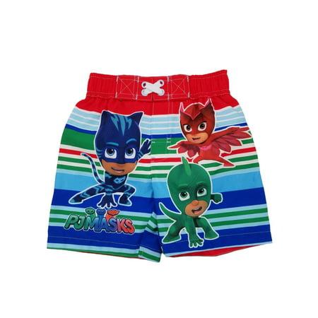 4a9037eee3 PJ Masks - PJ Masks Toddler Boys Colorful Stripes Swim Trunks Board Shorts  2T - Walmart.com