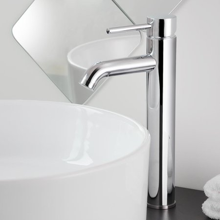 "Aquaterior 12-1/2"" Tall Bathroom Faucet Vessel Sink Single Handle Basin Lavatory (CUPC NSF)"