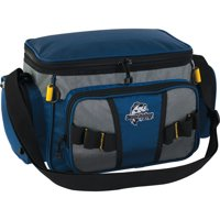 Okeechobee Fats Small Soft-Sided Tackle Bag with 2 Medium Utility Lure Box Storage Containers, Blue