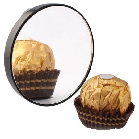 Mini Round Makeup Mirror 5X 10X 15X Magnifying Mirror With Two Suction Cups - image 4 of 8