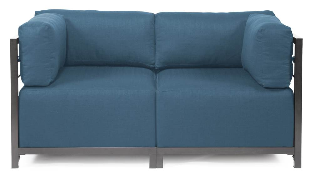 2-Pc Sectional in Seascape Turquoise by Howard Elliott Collection