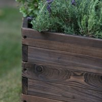 Deals on Coral Coast Guthrie Wood Hexagon Planter