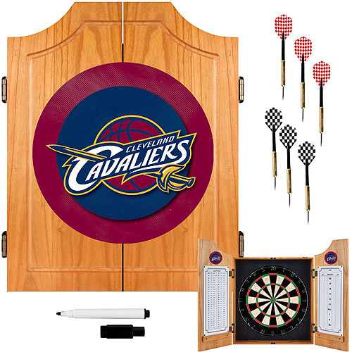 Cleveland Cavaliers NBA Wood Dart Cabinet Set