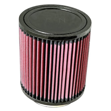 K & N Filters RU-5114 Air Filter  Washable; Red; Cotton Gauze; Round; 5 Inch Outside Diameter x 5-5/8 Inch Height; 3-1/2 Inch Flange Inside Diameter x 5/8 Inch Flange Length; Black Rubber Top - image 1 de 1