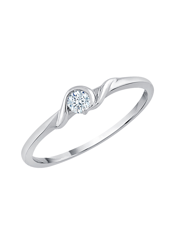 1//10 cttw, 3 Diamond Promise Ring in 10K Yellow Gold Size-3.5 G-H,I2-I3