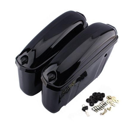 Yosoo A Pair Motorcycle Cruiser Hard Trunk Saddle Bag Box Side Luggage,Saddle Bag ,Box