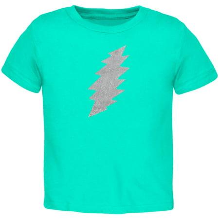 Grateful Dead - Foil Bolt Mint Toddler T-Shirt - 2T