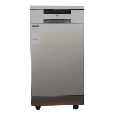"""Sunpentown 18"""" Portable Dishwasher, Energy Star, Stainless Steel SD-9263SS"""