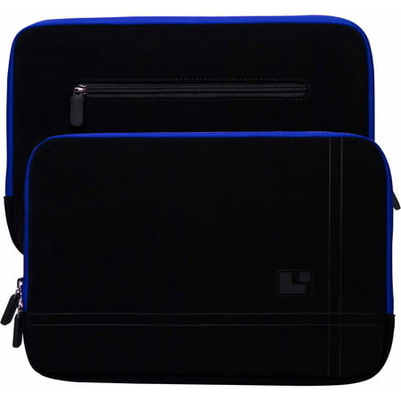 "Microsuede Compact Padded Carrying Sleeve with Rear Pocket for 12"", 13"", 13.3"" inch Notebook / Ultrabook / Laptop Devices"