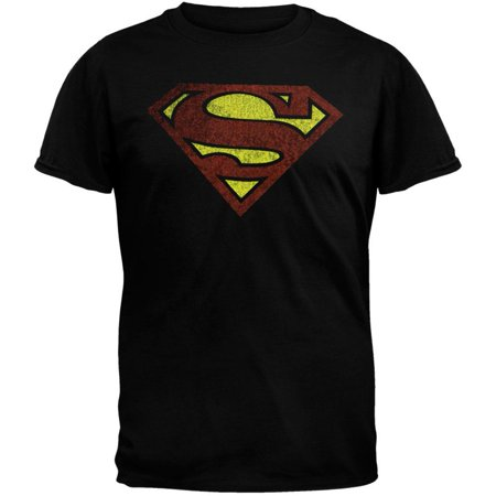 Superman T Shirts (Superman - Distressed Logo T-Shirt -)