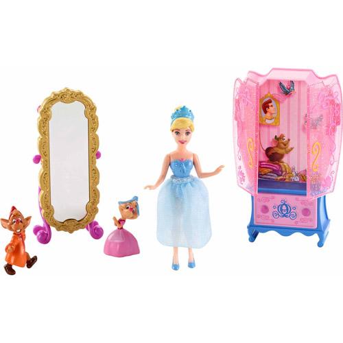 Disney Princess Little Kingdom Cinderella Doll and Furniture Play Set