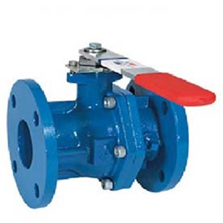 American Valve 3700 2 1-2 2.5 in. Cast Iron Flanged Ball Valve