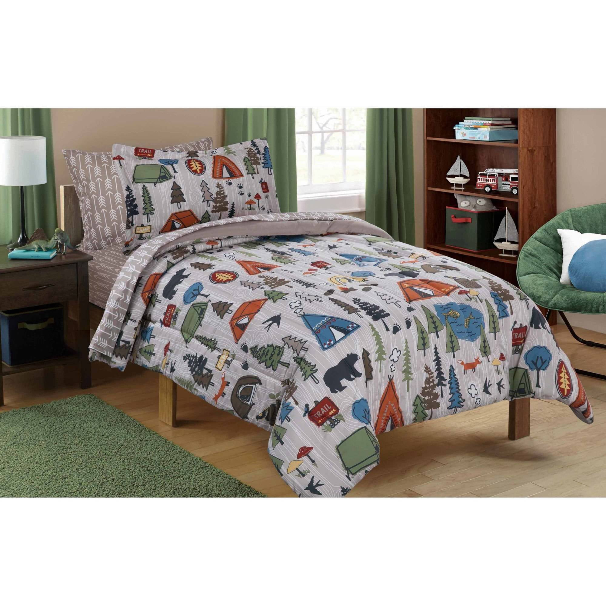 Mainstays Kids Camping Bed In A Bag Bedding Set   Walmart.com