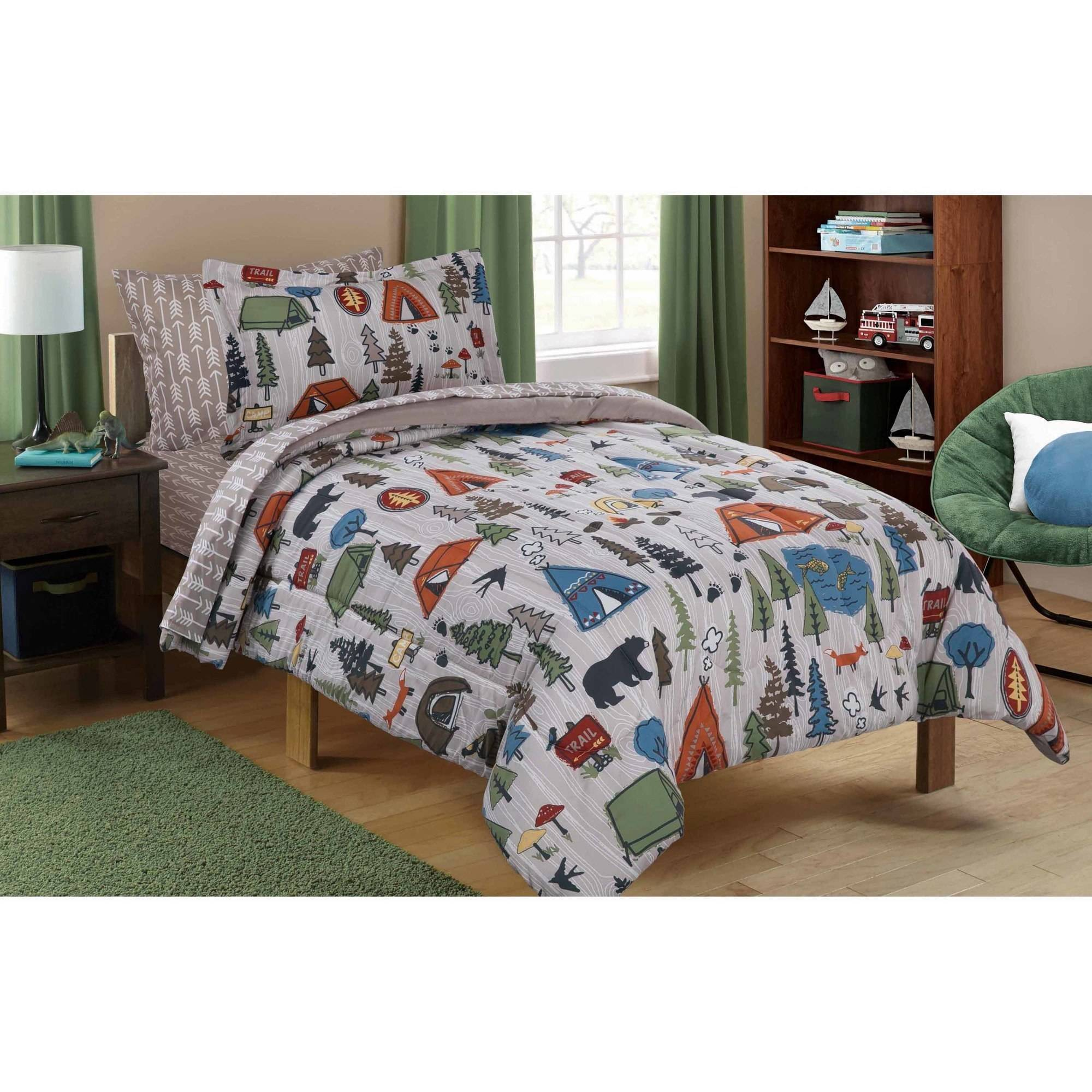 Amazing Mainstays Kids Camping Bed In A Bag Bedding Set   Walmart.com