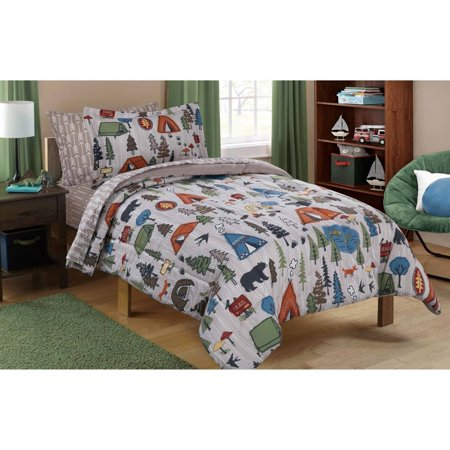 Mainstays Kids Camping Bed In A Bag Bedding Set Walmart Com