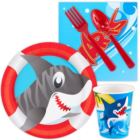 Shark Party Standard Kit (Serves 8) - Shark Week Party Supplies