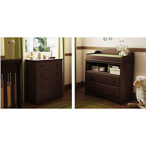 South Shore Angel Collection Changing Table and 4-Drawer Dresser, Multiple Finishes