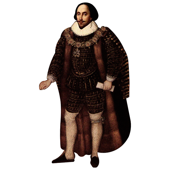 H79024 William Shakespeare Cardboard Cutout Standup