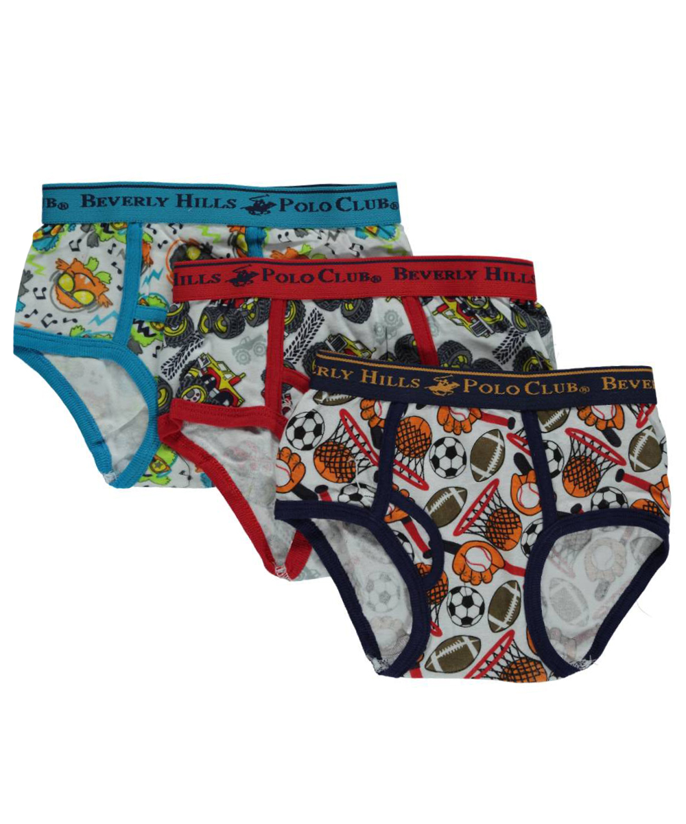 Beverly Hills Polo Club Little Boys' Toddler 3-Pack Briefs (Sizes 2T - 4T)