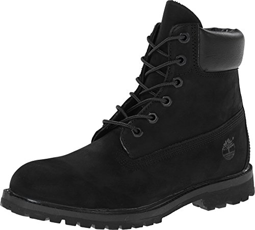 "Timberland Women's 6"" Premium Boot Black Nubuck (Medium   5.5 B(M) US) by Timberland"