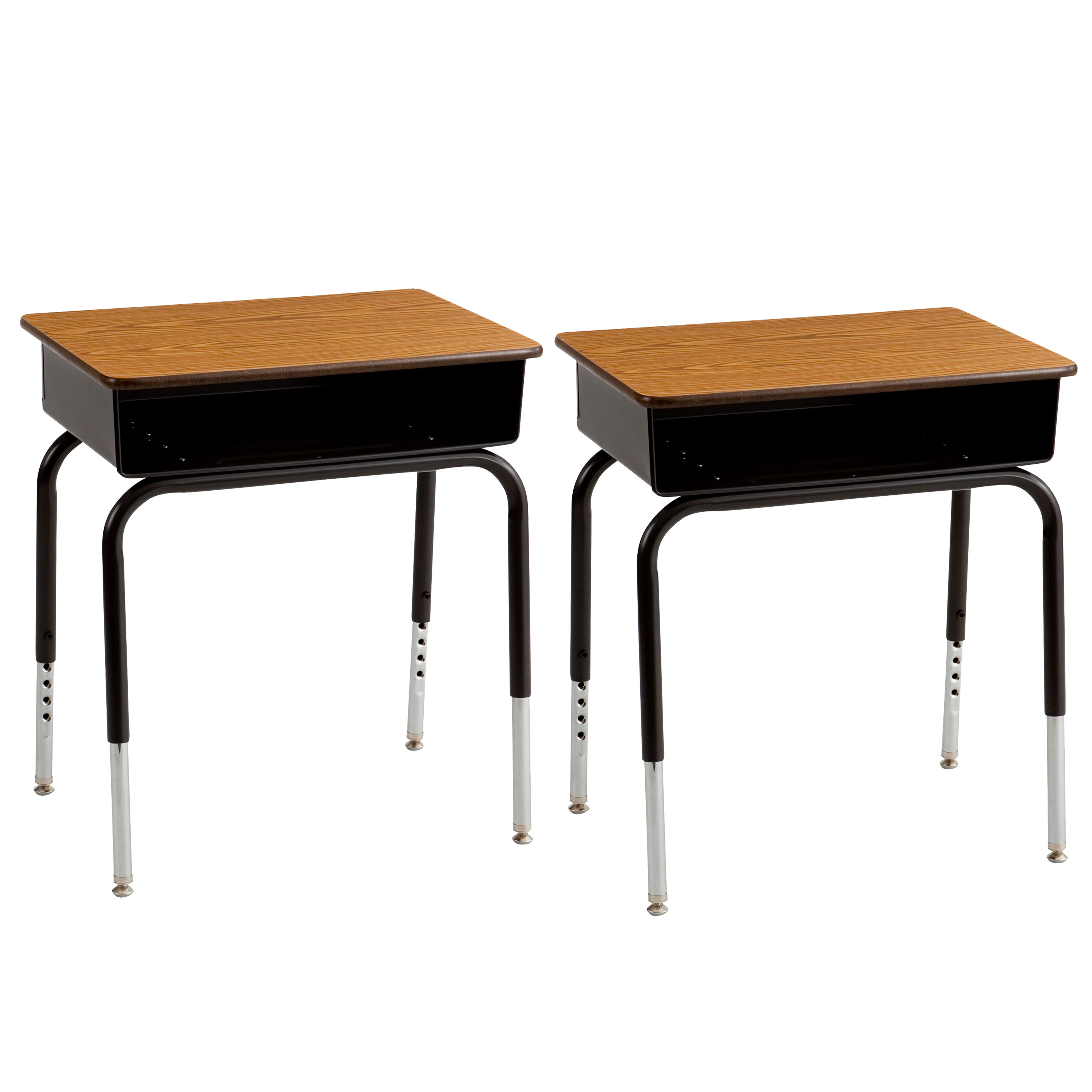 Metal Open Front Kids Desk, Set of Two