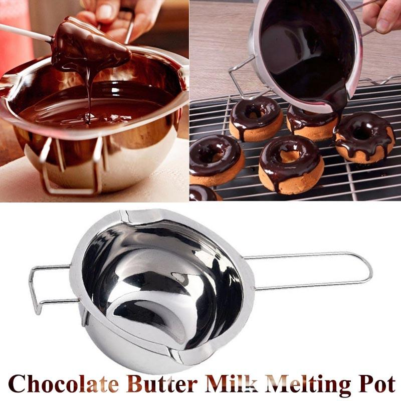 Chocolate Melting Pot Hilitand Stainless Steel Chocolate Butter Milk Melting Pot Pan Kitchen Cookware Tool