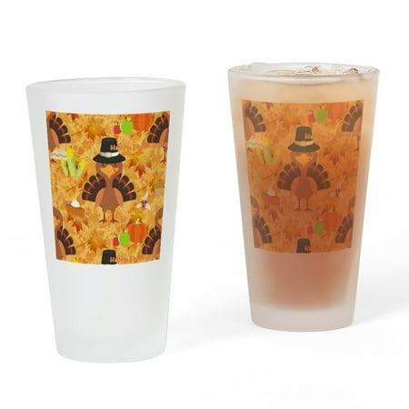 CafePress - Happy Thanksgiving Turkey - Pint Glass, Drinking Glass, 16 oz. (Thanksgiving Glasses)
