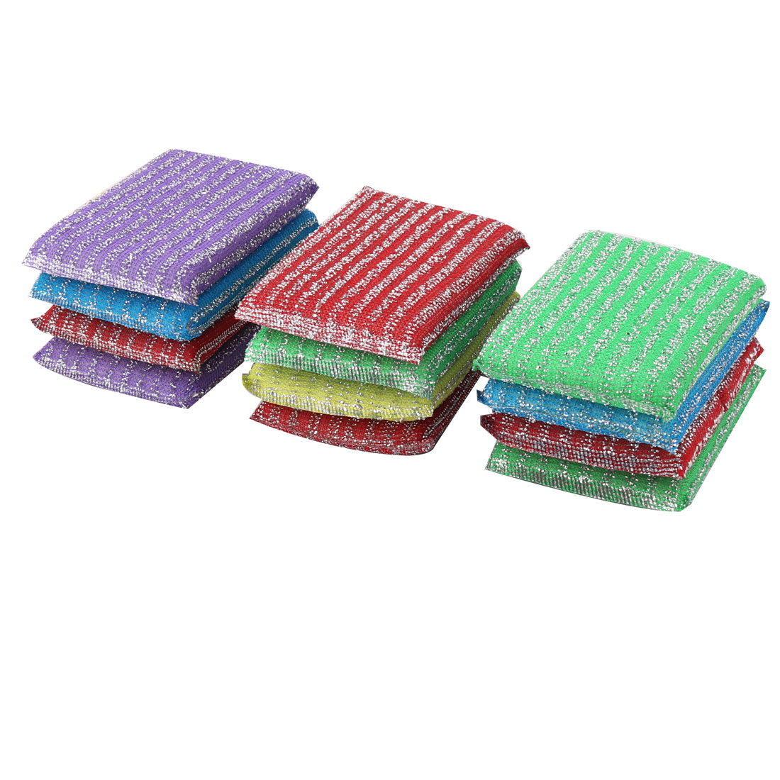Apartment Bowl Dish Sponge Wash Scourer Scrubber Cleaning Cleaner Pads 12pcs