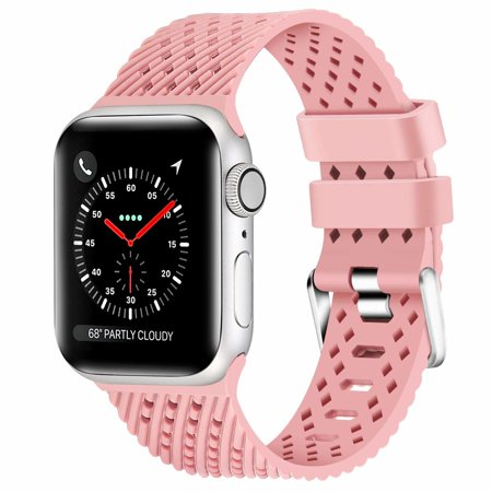 Sport Band Watch Strap with Compression Molded Perforations for Apple Watch 44mm / 42mm - Pink