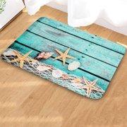 Summer Beach Shellfish Kitchen Bathroom Bath Mat Non-slip Carpet Floor Mat Doormat Home Office Decor
