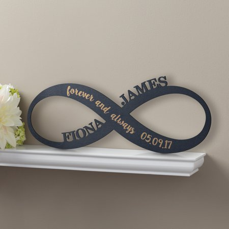 Personalized Black Wood Plaque - Infinity Sign - Walmart Personalized Gifts
