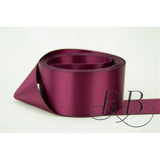 Ribbon Bazaar 8851 3 in. Double Faced Satin Ribbon, Sangria - By The Yard