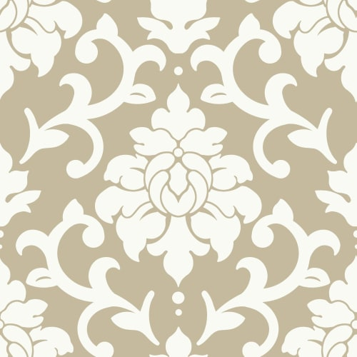 RoomMates Gold Damask Peel & Stick Wallpaper