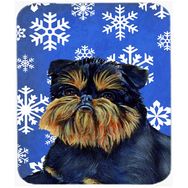 Carolines Treasures LH9298MP Brussels Griffon Winter Snowflakes Holiday Mouse Pad, Hot Pad Or Trivet - image 1 de 1