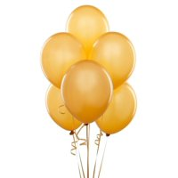 "50 pcs 12"" Metallic Gold Colour Latex balloons birthday Wedding celebrations"