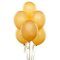 "50 pcs 12"" Metallic Gold Colour Latex balloons birthday Wedding celebrations"