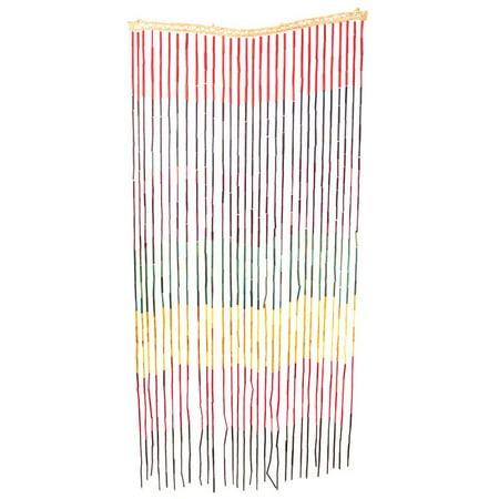 3ftx6ft Bamboo Beaded Door Curtain - Rainbow (Hippie Door Beads)