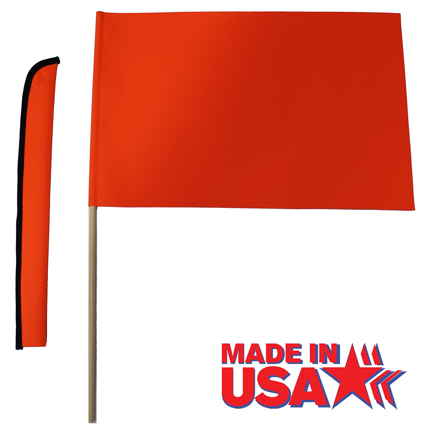Orange Water Ski Flag , Flag measures 12x18 By Hardcore Water Sports by