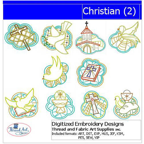 ThreadArt Machine Embroidery Designs Christian(2) CD
