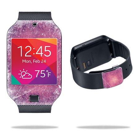 Mightyskins Protective Vinyl Skin Decal Cover for Samsung Galaxy Gear 2 Neo Smart Watch wrap sticker skins Purple - Purple Swirl